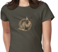 Harlequin Rabbit (plain) Womens Fitted T-Shirt