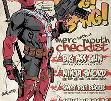 Deadpool Checklist by averagejoeart