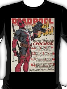 Deadpool Checklist T-Shirt