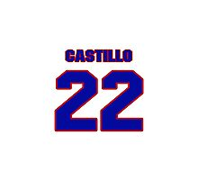 National baseball player Alberto Castillo jersey 22 Photographic Print