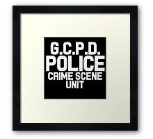 Gotham City Police Department - Batman Framed Print