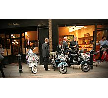 Mods in Covent Garden Photographic Print