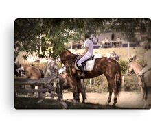 Horse Rider Awaiting Canvas Print