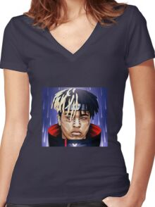 XXXTENTACION PAIN Women's Fitted V-Neck T-Shirt