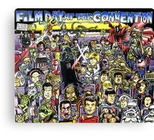 Film Day at the Convention Canvas Print