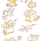 Meowth doodles~ by Barking-trees