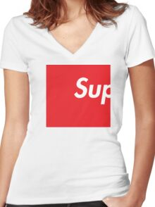 SUP Supreme Women's Fitted V-Neck T-Shirt