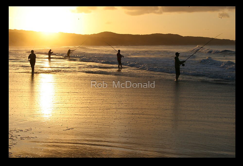 Fraser fishing Sunset by Rob  McDonald