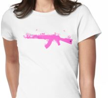 Ak47 Love & Peace (girl) Womens Fitted T-Shirt