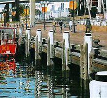 Early morning, Darling Harbour by Freda Surgenor