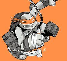 TMNT - Michelangelo by averagejoeart