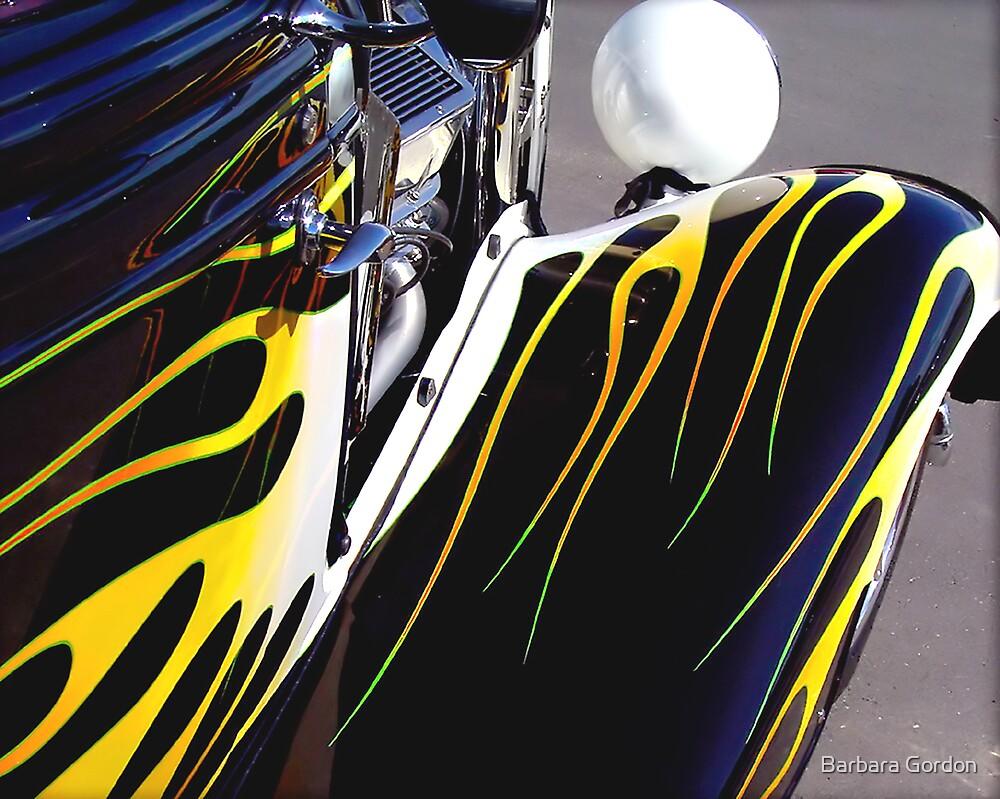 White & Yellow Flames by Barbara Gordon