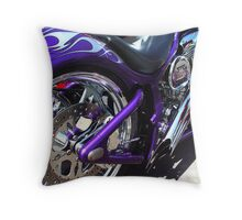 Purple Chopper Throw Pillow