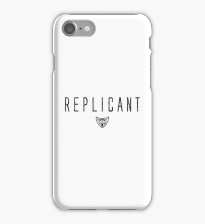 Blade Runner - Replicant - Black Dirty iPhone Case/Skin