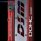 4g63 MITSUBISHI Valve Cover -IPHONE -Red/White - Steven by Hector Flores
