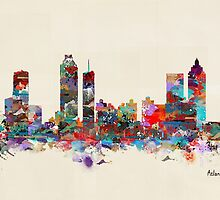 Atlanta city watercolor by bri-b