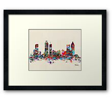 Atlanta city watercolor Framed Print