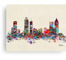Atlanta city watercolor Canvas Print