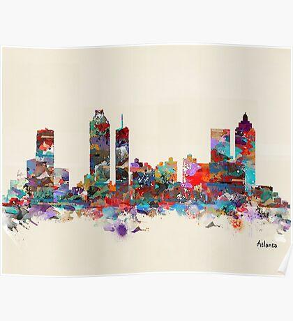 Atlanta city watercolor Poster