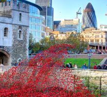 The Wave Tower of London Poppies Sticker