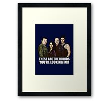 Simplified Cylon Spoilers Framed Print