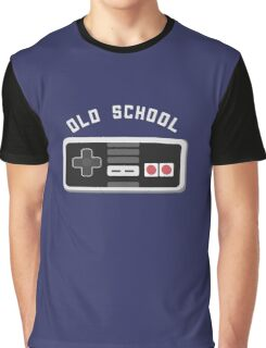 Cool Old School Gamer T-Shirt Graphic T-Shirt