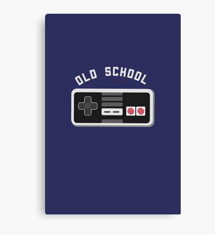 Cool Old School Gamer T-Shirt Canvas Print