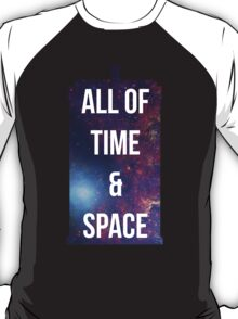 """Doctor Who TARDIS - """"All of time and space"""" T-Shirt"""