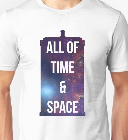 "Doctor Who TARDIS - ""All of time and space"" Unisex T-Shirt"