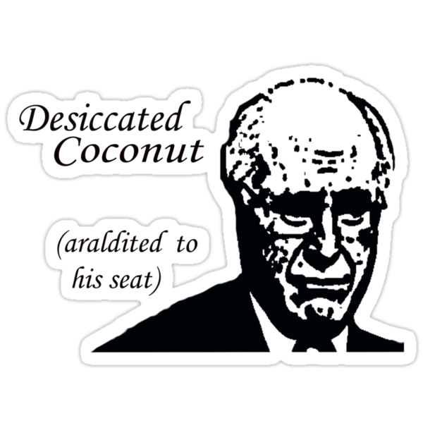 Desiccated Coconut Araldited To His Seat by grubbanax
