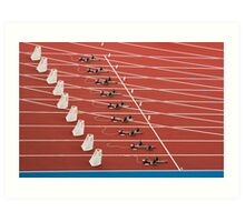 Starting Blocks Art Print