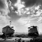 Boats in Barbados by Jeff Rayner