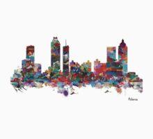 Atlanta city watercolor Kids Tee