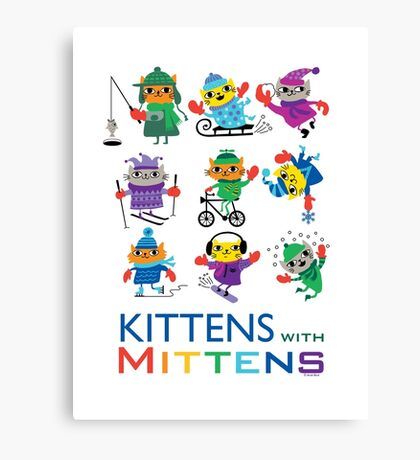 Kittens with Mittens Canvas Print