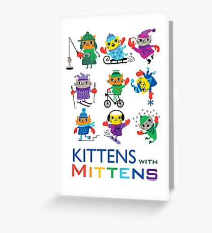 Kittens with Mittens Greeting Card