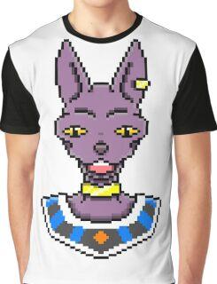 Beerus in Pixels Graphic T-Shirt