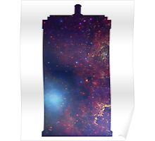 Doctor Who TARDIS - Galaxy Background Poster