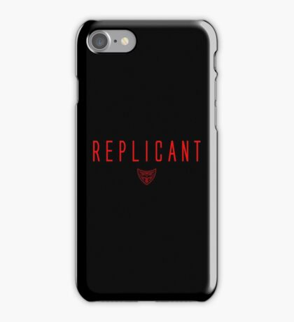 Blade Runner - Replicant - Red Clean iPhone Case/Skin