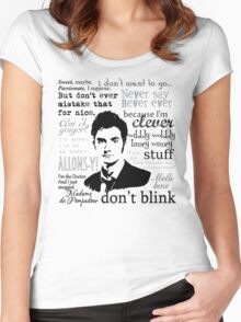 Tenth Doctor - on white Women's Fitted Scoop T-Shirt
