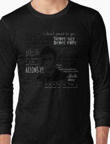 Tenth Doctor - on white Long Sleeve T-Shirt