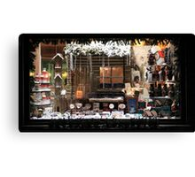 Christmas showcase in the evening Canvas Print