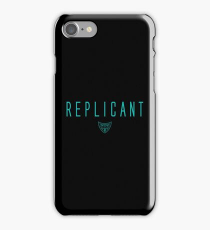 Blade Runner - Replicant - Teal Clean iPhone Case/Skin