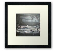 Painted Night Scene Framed Print