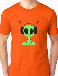 Green Alien DJ Unisex T-Shirt