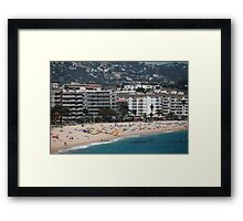 urban beach in summer Framed Print