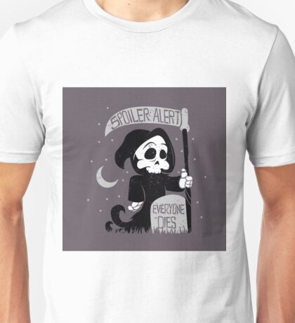 Cute cartoon grim reaper with scythe Unisex T-Shirt