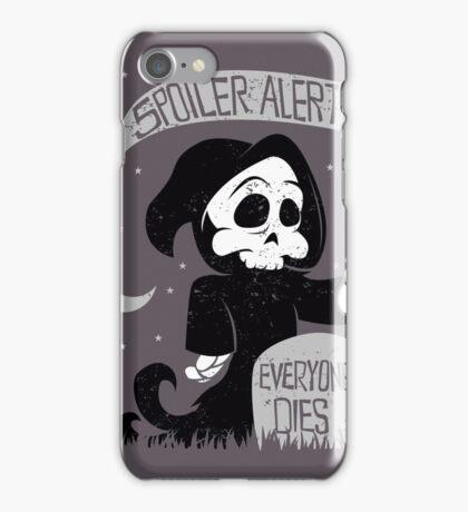 Cute cartoon grim reaper with scythe iPhone Case/Skin