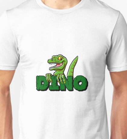 Cute dinosaur cartoon and lettering Unisex T-Shirt