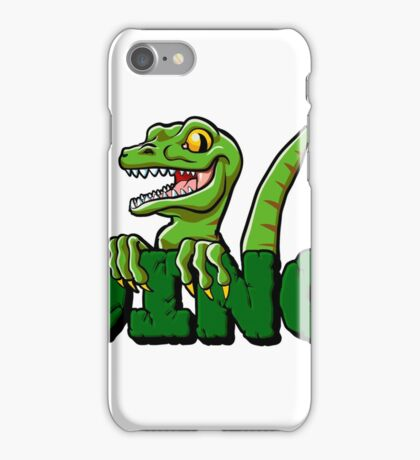 Cute dinosaur cartoon and lettering iPhone Case/Skin