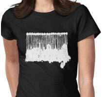 White Ink.  Womens Fitted T-Shirt